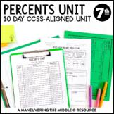 7th Grade Math Percents Unit:  7.RP.2, 7.RP.3