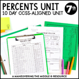 Percents Unit: 7th Grade Math (7.RP.2, 7.RP.3)