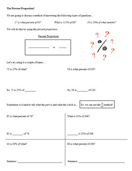 Percents Unit (Guided Notes and Assessments)