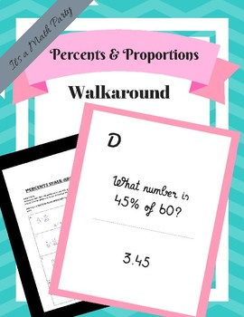 Percents Walkaround Activity