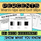 Percents Warm Ups & Exit Slips