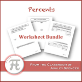 Percents Worksheet Bundle