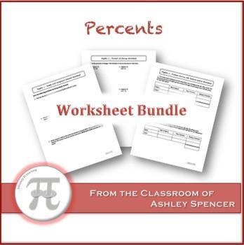 Percents Worksheet Bundle