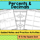 Percents and Decimals Notes