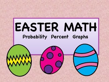 Easter Math Fractions Percents with Graphing
