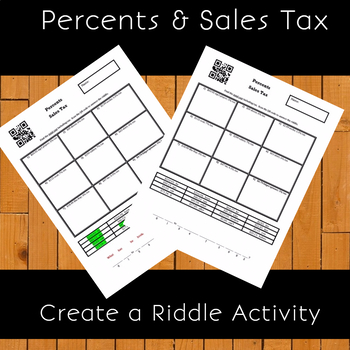 Percents and Sales Tax Create a Riddle Activity