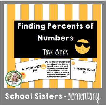 Percents of Numbers Task Cards