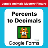 Percents to Decimals - Animals Mystery Picture - Google Forms