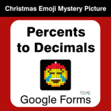 Percents to Decimals - Christmas EMOJI Mystery Picture - G