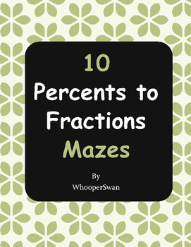 Percents to Fractions Maze