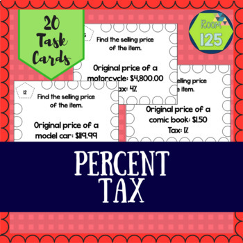 Calculating Tax Task Cards