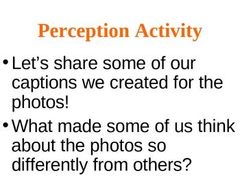Perception Activity: Create a Caption for the Photo!