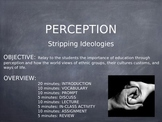 Perception: Racism and Ideologies