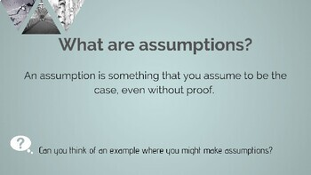 Perception and Assumptions Interactive Presentation