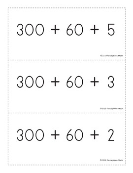 Perceptions Place Value Flash Cards (1200+)