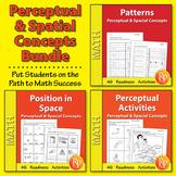 Perceptual & Spatial Concepts {Bundle}