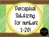 Perceptual Subitizing Powerpoint Slideshow for Numbers 1-20