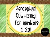 Perceptual Subitizing Powerpoint Slideshow for Numbers 1-20