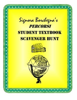 Percorsi Italian Textbook Scavenger Hunt