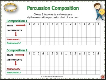 Percussion Charts and Composition FREE Sample