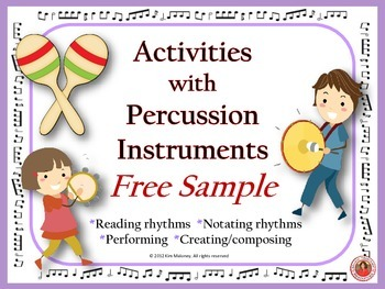 Free Music: Percussion Charts and Music Composition Activity