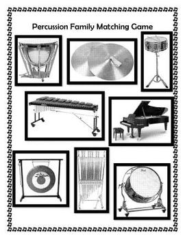 Percussion Family Folder Matching Game