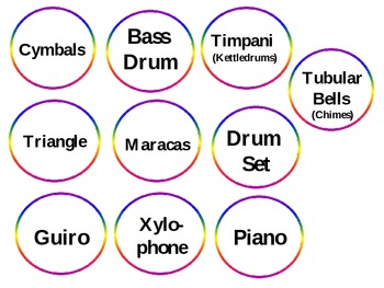 Percussion Family Identification - File Folder Game/Music Room Centers