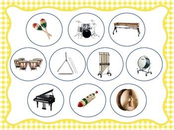Percussion Family Identification - File Folder Game/Music