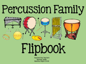 Percussion Family - Instrument Flipbook