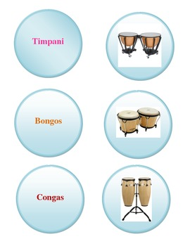Percussion Family Instrument Game
