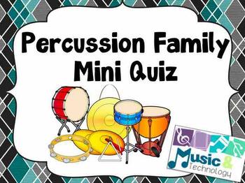 Percussion Family Mini Quiz