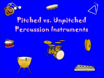 Percussion Instrument Classification - Pitched vs. Non-Pitched