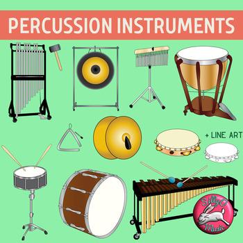 Percussion Musical Instrument Clip Art