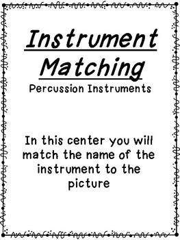 Percussion Instrument Matching Cards