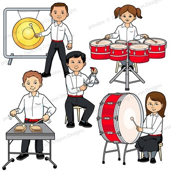 percussion instruments music kids playing instruments of
