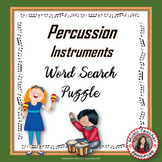 Musical Instruments: Percussion Instruments Word Search: Music Game