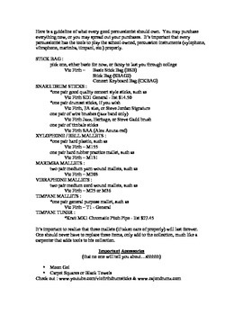 Percussion Master Class Handout- FREE Download
