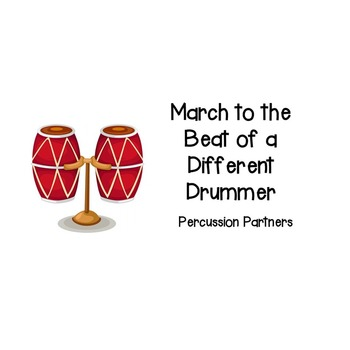 Percussion Partners - Cooperative Learning Activity to Form Partners