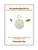 Percussion Quartet #1: Claves, Tambourine, Crash Cymbal, B