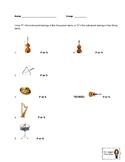 Percussion/String Instrument Quiz