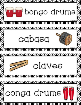 Percussion Word Wall
