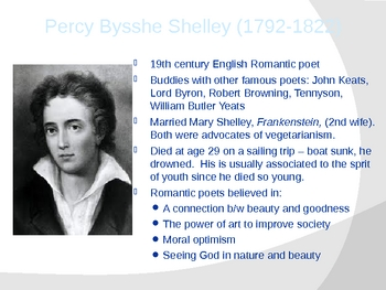Percy Bysshe Shelley Ode to the West Wind poetry analysis