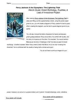 Percy Jackson Film Hero's Quest Project