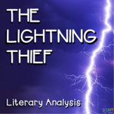 Percy Jackson Lightning Thief - Reading Comprehension, Analysis Questions