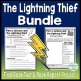Percy Jackson Lightning Thief Bundle: Final Book Test and Book Report Project