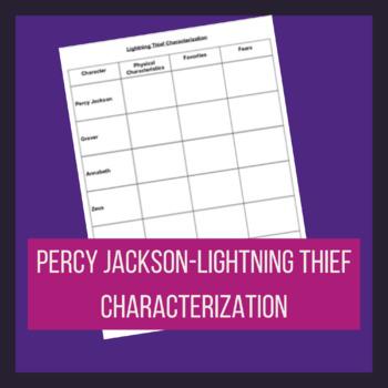 Percy Jackson- Lightning Thief Characterization