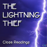 Percy Jackson Lightning Thief: Fiction Close Readings, Graphic Organizers