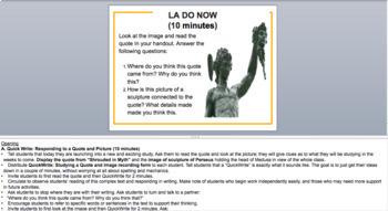 Percy Jackson Lightning Thief Module 1 Unit 1 Presentation EngageNY (editable)