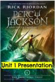 Percy Jackson Lightning Thief Module 1 Unit 1 Presentation