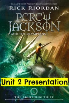 Percy Jackson Lightning Thief Module 1 Unit 2 Presentation EngageNY (editable)